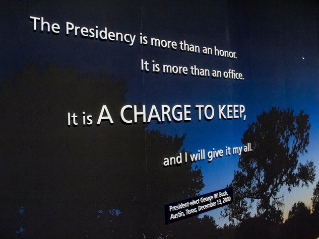 Quote at George W. Bush Presidential Center in Dallas