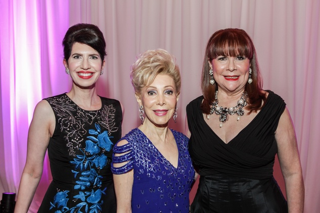 Dr. Kelli Cohen Fein, from left, Margaret Alkek Williams and Barbara Van Postman at the Medical Bridges Gala September 2014