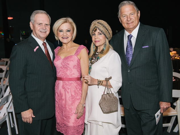 2 Pink at the Brown Houston May 2013 Jim and Jo Furr, Dr. Carolyn Farb, Charles Ward