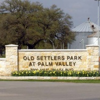 Old Settlers Park in Round Rock sign