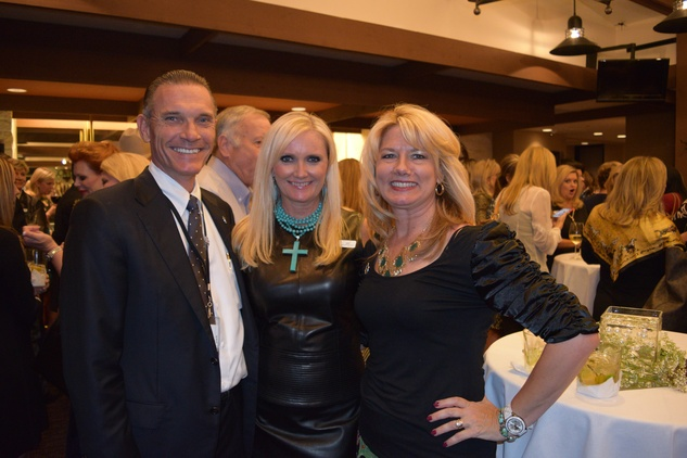 7 Jim Brock, from left, Jill Watson and Joan Brock at the Houston Livestock Show and Rodeo Trailblazer honoree reception October 2014