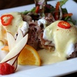 Cheddar biscuit Benedict at Boxwood T+G in Dallas