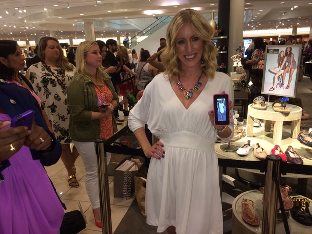 Kristie McDonald at Sarah Jessica Parker appearance at Nordstrom