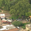Aerial View of Memorial School Bus Accident