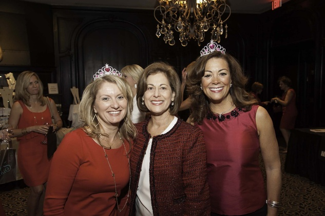 Karen Miller, from left, Jean Chapman and Susan Whitacre at the Go Red For Women luncheon May 2014