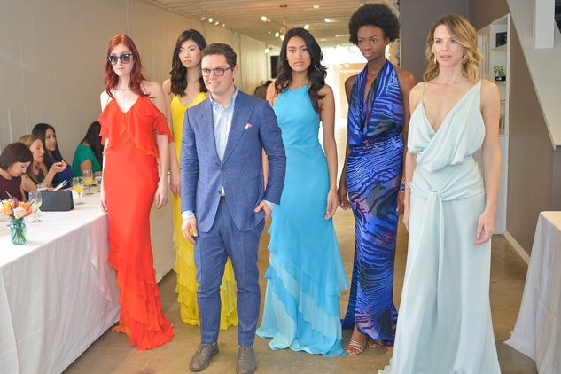 David Peck and models at the David Peck spring summer 2015 fashion show March 2015
