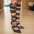 20 Strappy black boots with holster at Joyce Echols Shoes Preview March 2015