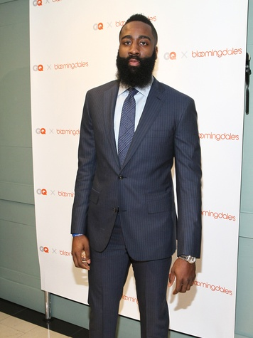 Clifford Pugh New York Fashion Week fall 2015 James Harden appearance at Bloomingdale's February 2015 James Harden 3