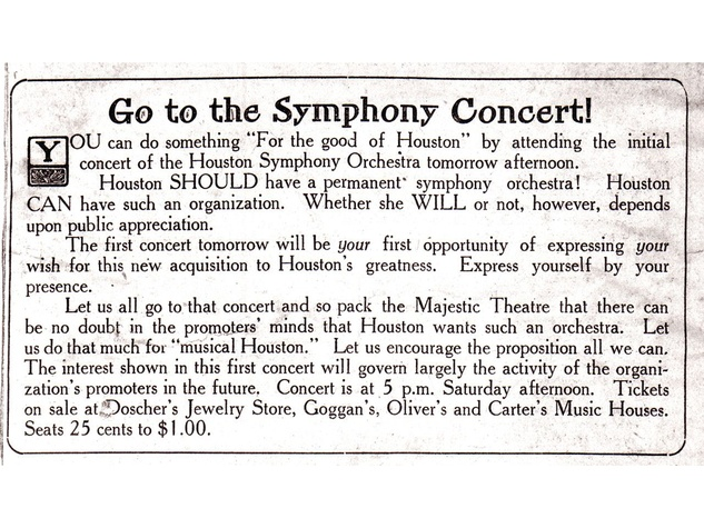 First Houston Symphony add first concert book