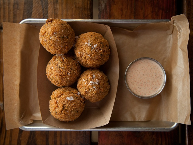 Banger's fried boudin balls