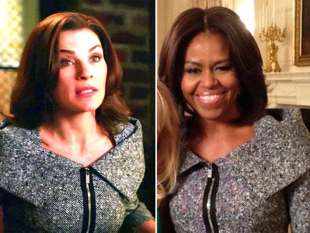 Julianna Margulies and Michelle Obama Michael Kors suit State of the Union January 2015