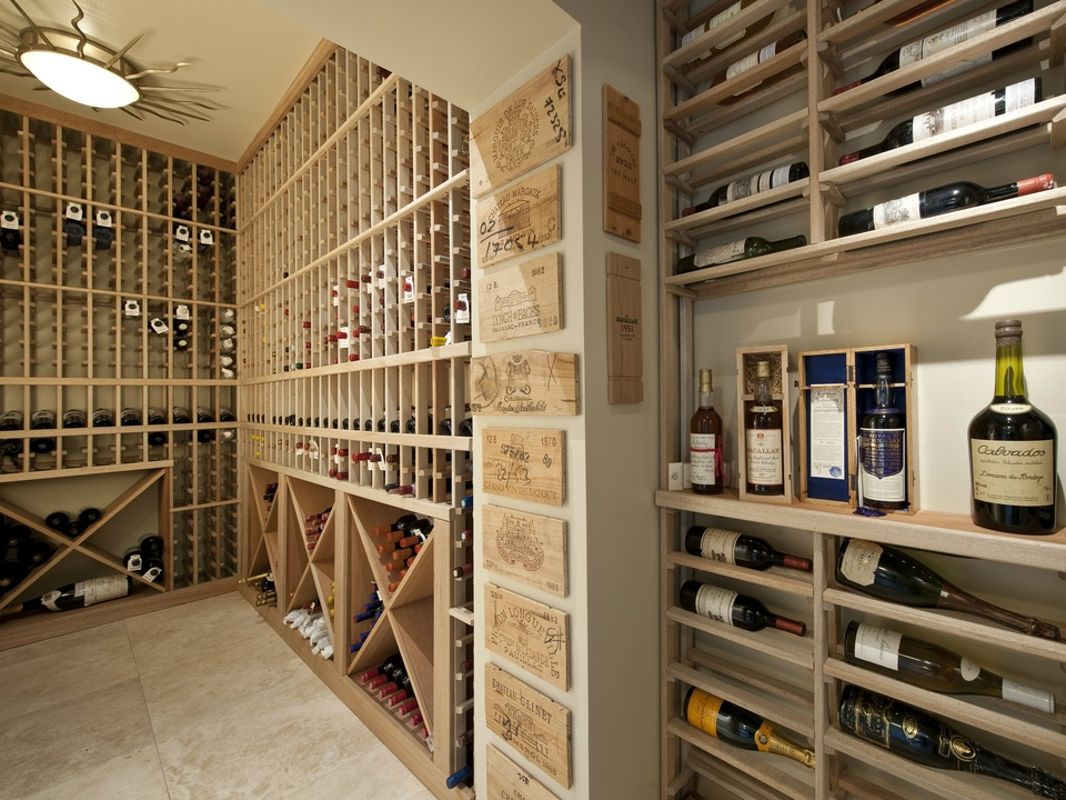 Wine room at 3828 Turtle Creek in Dallas