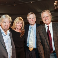 Larry McMurtry, from left, Diana Ossana, Greg Curtis and BillBroyles at the Center for Houston's Future dinner November 2014