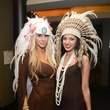 Angela Maria, left, and Mallika Doss at Hotel ZaZa's Halloween Bash November 2014