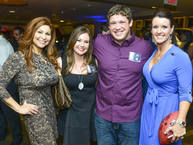 15 Debbie Brannon, from left, Amanda and Jon Weeks and Shanan Malone at Taste of the Texans November 2013