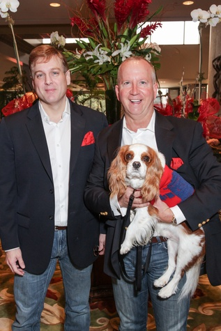 10 Brad Miles, left, and Kirk Longmire with Mason at the Best Friends Brunch benefiting aniMeals on Wheels February 2015