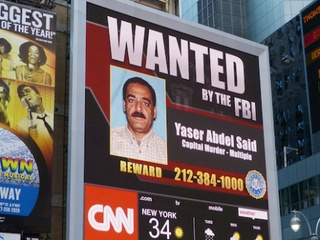 Wanted poster for Yaser Said
