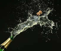Champagne popping - New Year's Eve