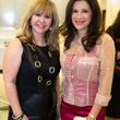 Cyndy Garza Roberts, left, and Alex Blair at the Latin Women Initiative's kick-off luncheon February 2014