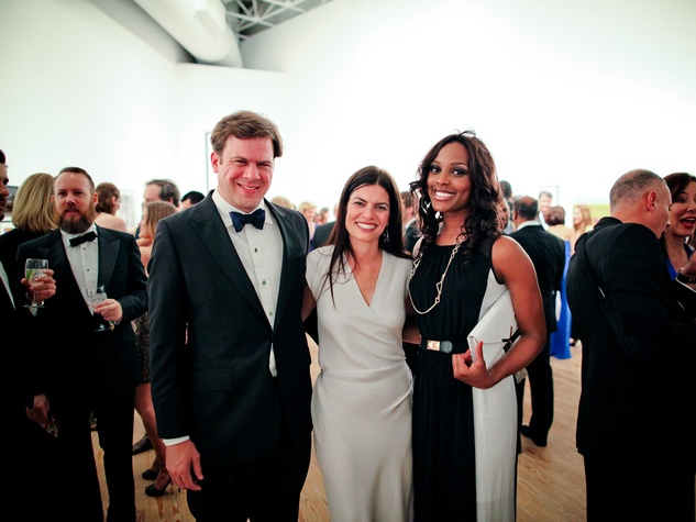 Steve and Ashley Putman, from left, with Alecia Harris at the CAMH Gala April 2014