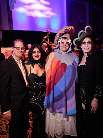 Marc Schindler, from left, Apoma Mackey, Christopher Hughes and Curry Glassell at DREAMSCAPE The Orange Show's 32nd Annual Gala November 2013