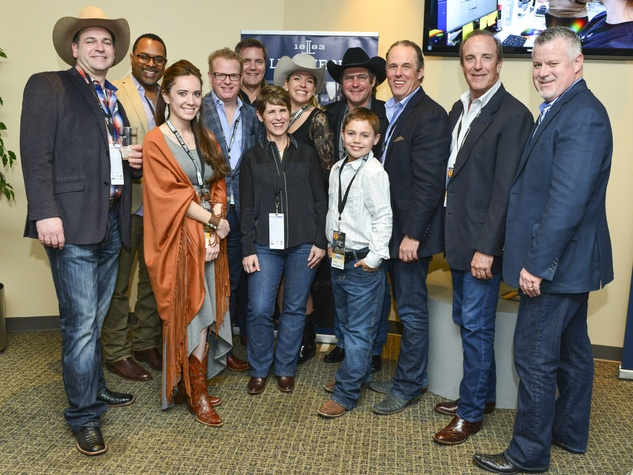 Lucchese owner John Muse, second from right, with Lucchese owner and Cavender family