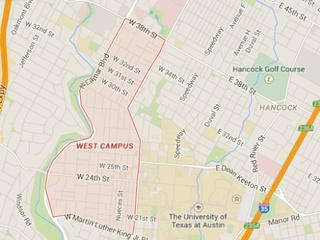 Austin - West Campus Area - Google - December 2014