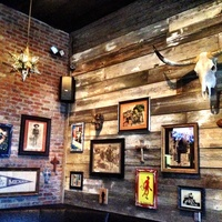 Stars, wooden stripes and Dia de los Muerto's art at Pistolero's