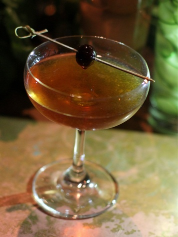 Fernanda Rossano's drink at Woodford Reserve Manhattan party