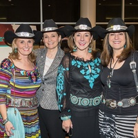 Denise Monteleone, from left, Bobbie Nau, Elizabeth Stein and Ellie Francisco at the HLSR Hide Party January 2014