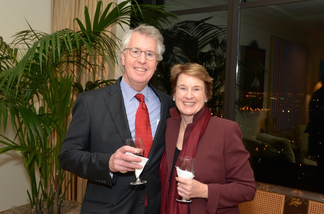 George and Linda Kelly at the MFAH Contemporary party January 2014