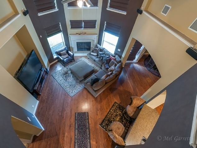 On the Market Vince Young Royal Oaks house 12006 Legend Manor Drive October 2014 family room from above