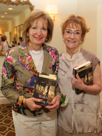 Linda Anderson, left, and Karen Selleck at the St. Luke's Friends of Nursing luncheon April 2014