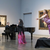 Nancy, performing in galleries, July 2012, Misha Penton