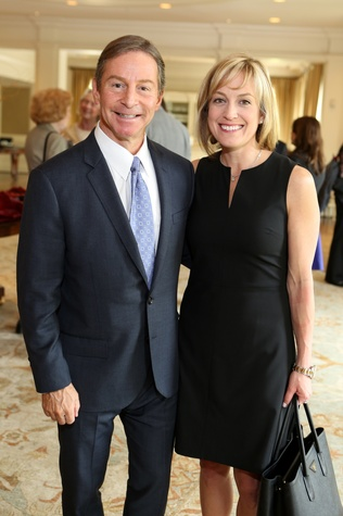 Lance Rosmarin and Lindsay Aronstein at the St. Luke's Friends of Nursing luncheon March 2015