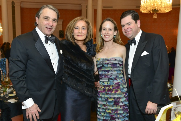Mark Wawro, from left, Melanie Gray and Eleanor and Dan Gilbane at the Inprint Poets & Writers Ball February 2014