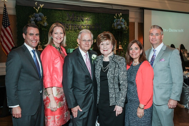 News, Shelby, Men of Distinction luncheon, May 2015, Steve Mach, Joella Mach, Harry Mach, Cora Sue Mach, Carmen Mach, Butch Mach