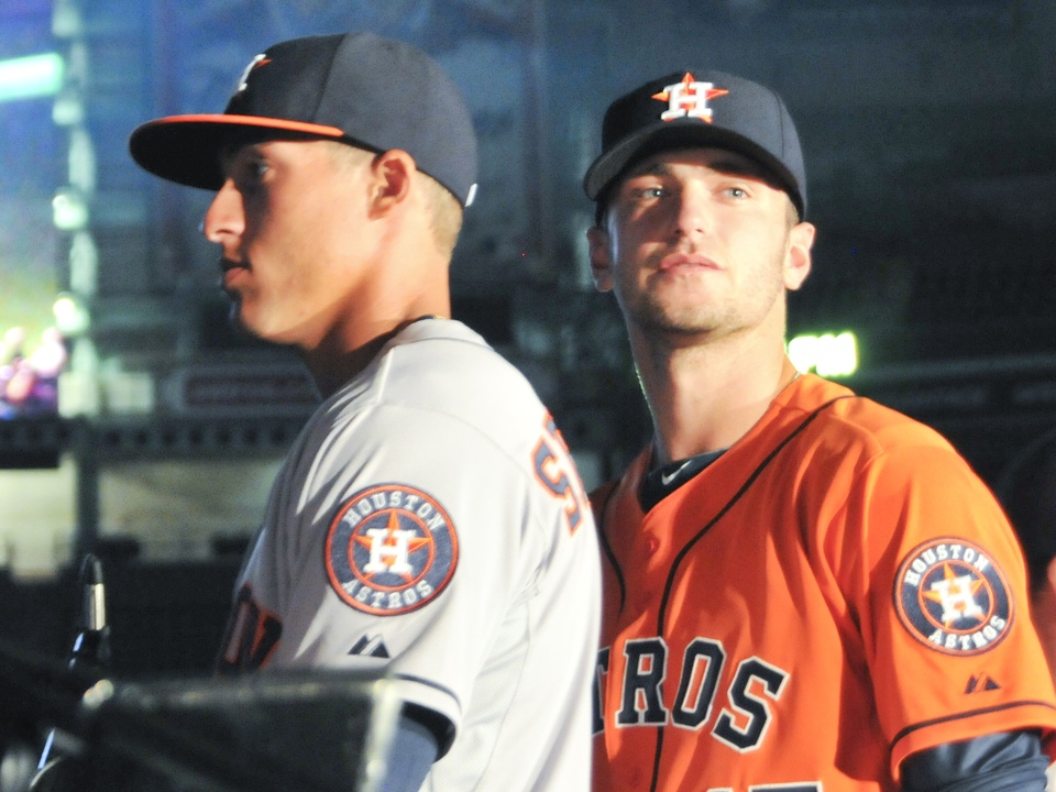 Astros new uniform duo
