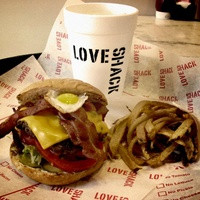 Burger at Love Shack in Fort Worth
