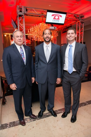 Houston, Crime Stoppers Awards luncheon, May 2015, Mack Neff with Integrity Bank, Hazem Ahmed, Chris Springer