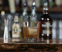 Austin bartender Lucas Felek makes the Velvet Rut