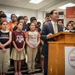 San Antonio Mayor Julian Castro speaking for 2014 Destination College with local students