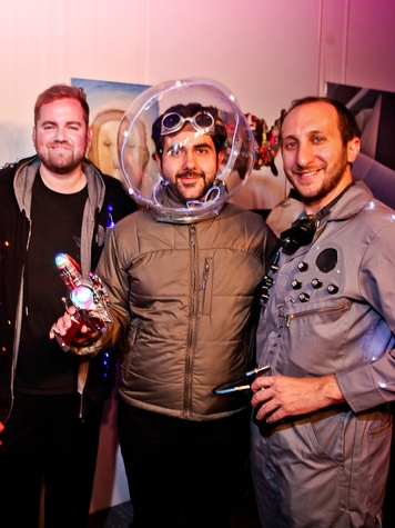 121 Jonathan Beitler, from left, Haig Tcholakian and George Cole at the Fresh Arts Space Ball March 2014