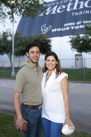 David A. and Estela  Cockrell at The Society for Leading Medicine Houston Texans Family Field Day May 2014