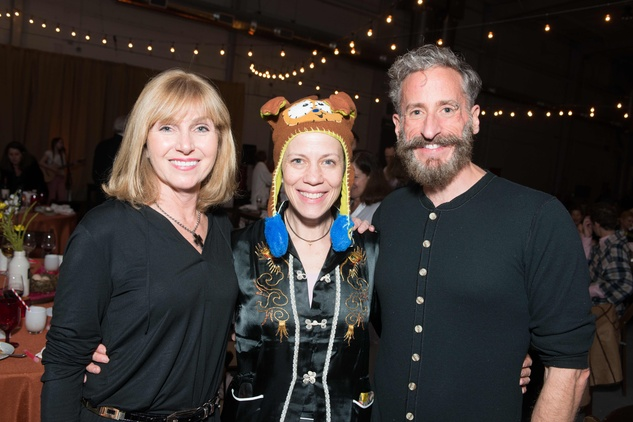 Kathy Harrison, from left Jane Weiner and Michael Bartha at the Hope Stone Gala March 2014