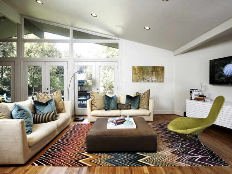 Houzz Dallas midcentury modern house