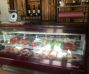 Harwood Grill butcher case