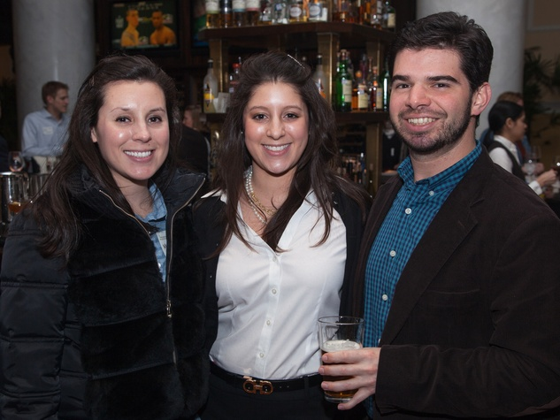 9 Madyson Chavez, from left, Meredith Chavez and Cesar Giralt at the Preservation Houston Pier & Beam event February 2014