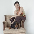 Jane Weiner, Hope Stone, chair, dog