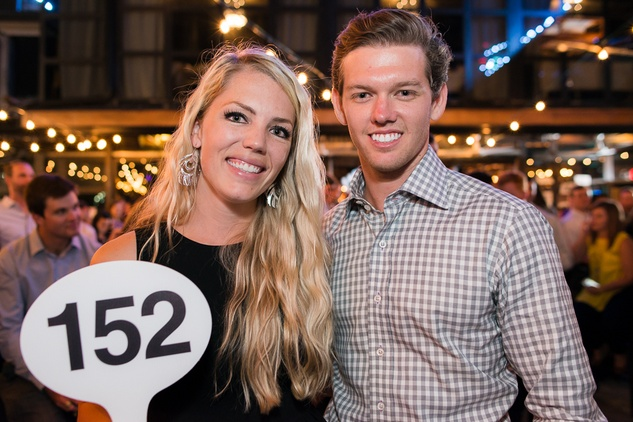 Katie Nolet and Cody Heath at the RedBuds Membership Drive October 2014